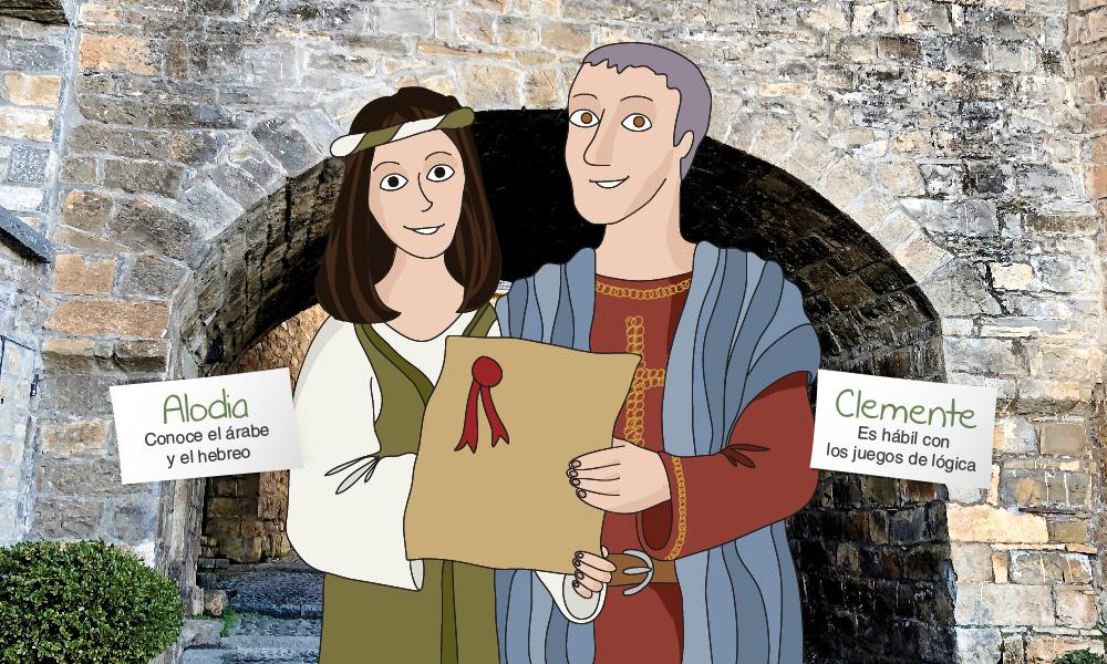 Únete a Alodia y Clemente. Pequevisitas Aínsa-Sobrarbe